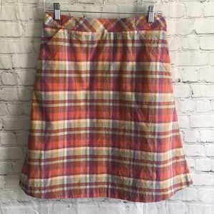 Pendleton A-line madras plaid skirt 6 petite